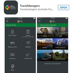 TravelManagers client travel app. Apply to me for information.