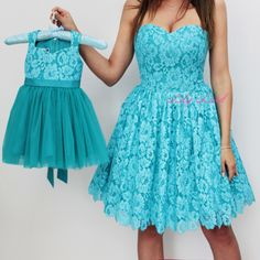 Mother and daughter Matching Dresses Turquoise Mother Daughter Matching Outfit Matching Dress mommy and me outfits birthday dress lace dress Baby Girl Dresses Diy, Baby Girl Dress Patterns, Baby Girls, Birthday Girl Dress, Birthday Dresses, Mommy Daughter Matching Dresses, Mom Dress, Dress Lace, Turquoise Lace Dresses