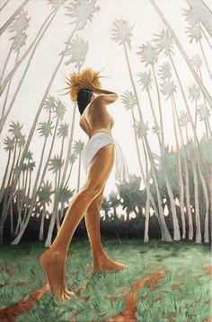Coconut Girl Painting by Pepe Patrick Conley Filipino Art, Graffiti, Polynesian Art, Tiki Art, Hawaiian Art, Painting Of Girl, Surf Art, Indian Art, Portraits