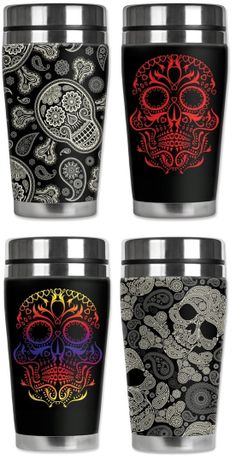 Mugzie Travel Mugs - Sugar Skulls