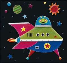 Simon Hart —  Spaceship (500×468)