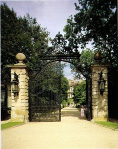 "Entrance gates to the Breakers, the Vanderbilt ""summer cottage"" in Newport, RI"