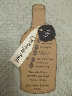 Cute wedding invitation idea for a Winery wedding. By AlRoad on Etsy, $4.75
