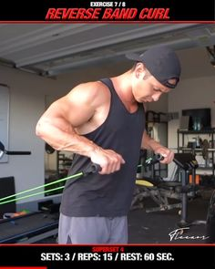 Band Workout, Gym Workout Videos, Gym Workout For Beginners, Gym Workouts, Chest Workout For Men, Bicep And Tricep Workout, Gymnastics Workout, Weight Training Workouts, Resistance Workout