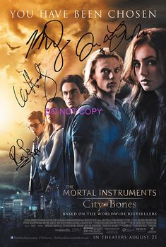 The Mortal Instruments City of Bones reprint signed 12x18 movie poster photo RP #2