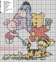 A la demande de Lily, j'ai refait la grille de Winnie et ses amis, la voici.