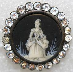 Button  Date: ca. 1770 Culture:    enamel, ivory