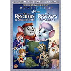 The Rescuers (35th Anniversary Edition) / The Rescuers Down Under (2-Disc DVD + Blu-ray) (Widescreen)