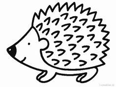 Výsledek obrázku pro ježek omalovánky