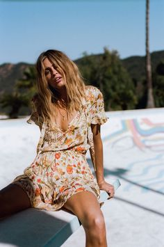 Pretty printed dresses, embellished denim separates, and crisp white embroidered frocks lay down the foundation for Spell Designs' Flower Child Collection. Boho Fashion, Girl Fashion, Fashion Outfits, Womens Fashion, Fashion Tips, Boho Hippie, Collections Photography, Spell Designs, Moda Boho