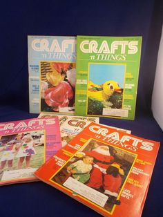 Crafts n Things Magazine Lot of 6 1981 1982 Cross Stitch Crochet Quilt Christmas