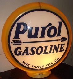 Purol Gasoline Gas Pump Globe Sale Price by MerishcasVintage, $150.00