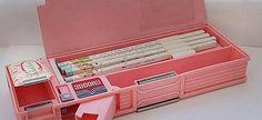the ultimate pencil-case 1980s Childhood, My Childhood Memories, Sweet Memories, Vintage Toys, Retro Vintage, Nostalgia, School Tool, Back In My Day, 80s Kids