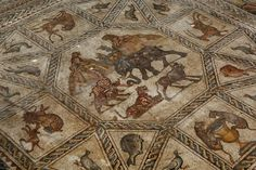 Beautiful 1,700 year old Roman mosaic floor revealed 2009 in Israel (Photo by David Silverman/Getty Images Europe)