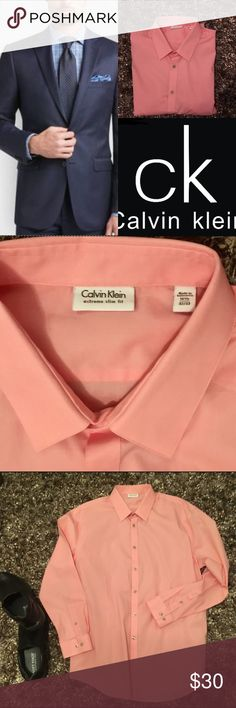 Calvin Klein🔴Extreme Slim Fit Dress Shirt Calvin Klein🔴Extreme Slim Fit Dress Shirt  A heavy helping of stretch accentuates the extreme slim fit of this Calvin Klein dress shirt. Featuring a point collar, a full button front,long sleeves with barrel cuffs and a rounded hem.Calvin Klein Extreme Slim Fit Dress Shirt 98%Cotton 2% Spandex Machine Washable retail $65 neck⚫️16 1/2⚫️32/33 Shirts Dress Shirts