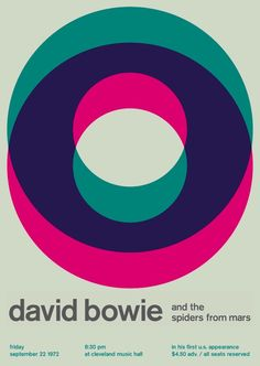 David Bowie - Gorgeous Punk Rock and Swiss Modernism Posters