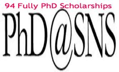 94 Fully PhD Scholarships for Italian and International Students at Scuola Normale Superiore in Italy, 2014-2015. Scuola Normale Superiore is offering up to 94 fully funded PhD scholarships for Italian and International citizens at university campuses (Pisa and Florence). - See more at: http://www.scholarshipsbar.com/94-fully-phd-scholarships.html#sthash.upZnkJxC.dpuf