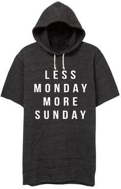 Less Monday Cut Off Sweatshirt Trendy Clothes For Women, Trendy Outfits, Cut Off Sweatshirt, Ily Couture, Hoodies, Women's Sweatshirts, Style Inspiration, Ships, My Style