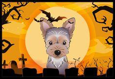 Halloween Yorkie Puppy Indoor or Outdoor Mat 18x27 BB1790MAT