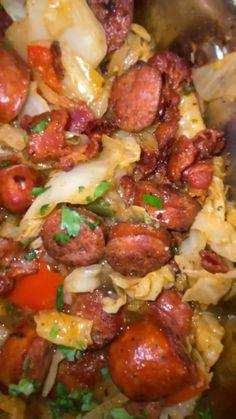 Cabbage Recipes, Pork Recipes, Cooking Recipes, Healthy Recipes, Health Dinner, Diy Food, Quick Meals, Asian, Casserole Recipes