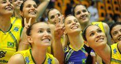 A Seleção Brasileira Feminina de Vôlei é campeã invicta da Copa Rio Internacional de Voleibol Femini...