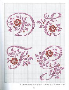 Gallery.ru / Фото #41 - belles lettres au point de croix - moimeme1