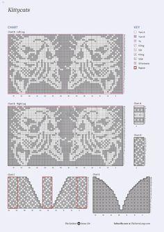 Knitted Mittens Pattern, Intarsia Knitting, Fair Isle Knitting Patterns, Knit Mittens, Knitting Charts, Loom Knitting, Knitting Stitches, Knitting Socks, Hand Knitting