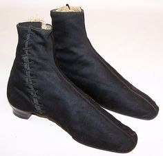 Early Victorian side lacing boots