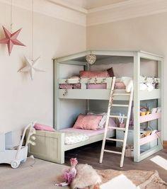 23 best Decoración de habitaciones con literas images on Pinterest ...