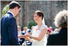 Exchanging vows. Italian wedding. Villa Catureglio, Tuscany
