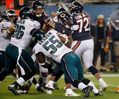 57ccca8bfed Chicago Bears running back Jeremy Langford is tackled by Philadelphia Eagles  defensive end Brandon Graham during