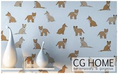 FREE SHIPPING little fox WALLPAPER canvas structure by CGhome