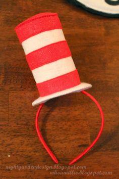 The Cat in the Hat mini top hat head bands diy / Night Garden Design blog