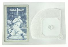$9.99 Closeout! Babe Ruth Genuine US Postage Stamp Baseball Diamond Paperweight