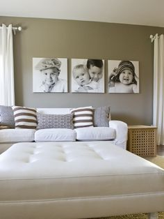 """I hear Staples prints giant 20""""x30"""" B prints on thin paper for less than $5....how cool would that be to transfer to canvas and hang like this?"""