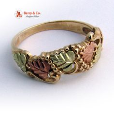 Estate Black Hills Gold 10 K tri Color Gold Ring by BerrysGems, $125.00