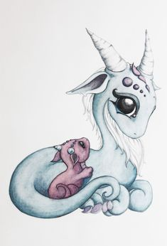 Mama and baby dragon