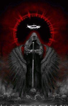 "melodiezmelz: ""Dark Angel by djwwinters "" Dark Angel Wallpaper, Gothic Wallpaper, Skull Wallpaper, Iphone Wallpaper, Trendy Wallpaper, Dark Fantasy Art, Fantasy Artwork, Fantasy Art Angels, Dark Gothic Art"