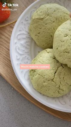 Do you like cookies, matcha and mochi? Watch this Easy Matcha Cookies Recipe Food TikTok by @cristina_yin and start making this easy recipe at home for snacks #food #baking #cookies #mochi #matcha Fun Baking Recipes, Cookie Recipes, Snack Recipes, Dessert Recipes, Snacks, Mochi Cookie Recipe, Asian Recipes, Sweet Recipes, Delicious Desserts