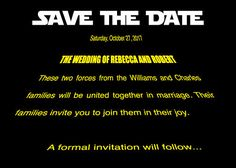Sci-Fi Flick Save the Dates (Price breaks with each quantitiy of 10). $3.00, via Etsy.