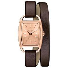 Caravelle New York Women's 44L123 Analog Display Japanese Quartz Brown Watch