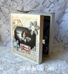 Whimsical Angels Christmas Shadow Box with by sugarlumpstudios