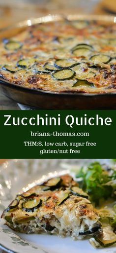 Zucchini Quiche (THM:S, low carb, sugar free, gluten/nut free) *omit pastry crust* Quiche Recipes, Sugar Free Recipes, Vegetable Recipes, Low Carb Recipes, Cooking Recipes, Healthy Recipes, Sauce Recipes, Omelettes, Quiches