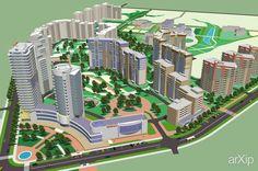 РЕКНСТРУКЦИЯ ЖИЛОГО КВАРТАЛА В НОВОСИБИРСКЕ #architecture #3dvisualization #modernism #17fl_50mandabove #5000m2иболее #frame_metal #facade_brick #highrisebuilding #structure #townplanning #architecture