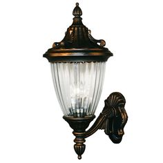 Theater? Waterloo Black Gold 24-Inch Outdoor Wall Light