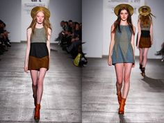 --Samantha Pleet's Romantic Revival for Fall/Winter 2012--sustainable design--great color blocking patterns--