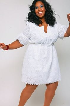 13 Plus Size Little White Dresses for Summer   White outfits ...