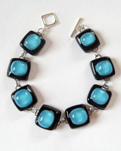 Beautiful fused glass bracelet!