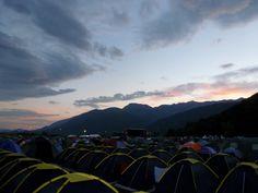 Sunrise over Sea Dance Festival, Montenegro