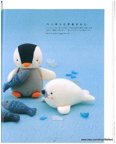 Fabric Dolls Japanese ebook Pattern FAB02 Instant by Bielleni, €2.00